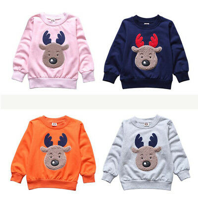 Christmas Xmas Kids boy girl baby Reindeer Baby Jumper Sweater Novelty clothes