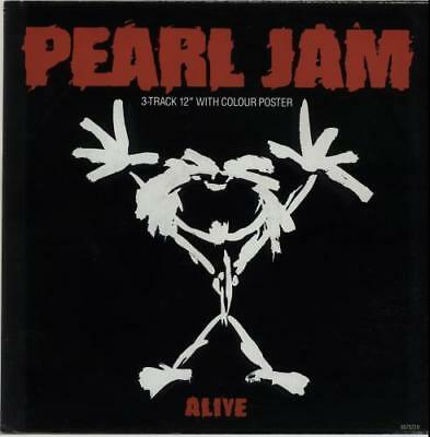 """Pearl Jam Alive 3 Track 12"""" With Colour Poster Vinyl  - ungespielt!"""