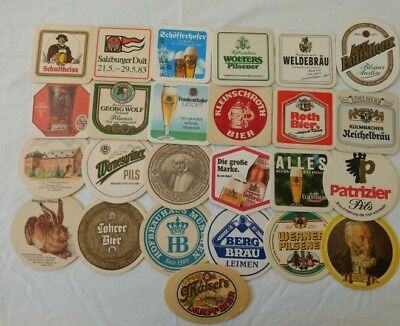 Lot of 50 Assorted Vintage German and European Beer Coasters (Shipping Included)