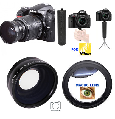 Lenses & Filters Xit Wide Angle Lens for Nikon D5600 D3500 D3400 w