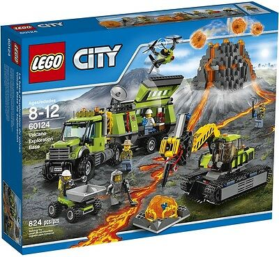 Lego - City - 60124 - Base Exploration Du Volcan - Neuf Et Scellé New And Sealed