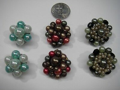 Lot of 3 Pair Vintage Clip-on Earrings