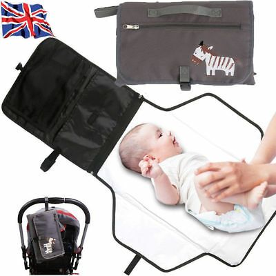 Baby Infant Portable Diaper Changing Pad Mat Travel Nappy Bag Storage Organizer