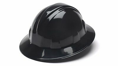 Pyramex Hp24111 Black Full Brim Hard Hat W/ratchet Suspension