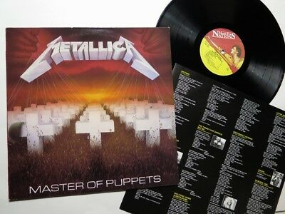 METALLICA - Master of Puppets LP 1988 England MFN 60