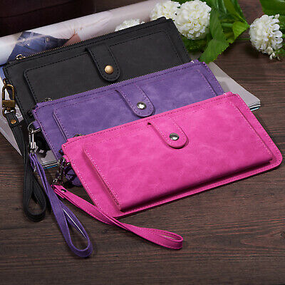 Leather Wristlet Wallet Magnetic Credit Card Case Cover for iPhone 8 / iPhone 7
