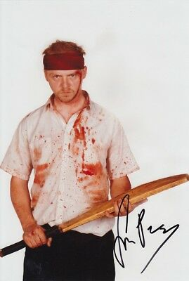 SIMON PEGG signed Autogramm 20x30cm SHAUN OF THE DEAD In Person COA