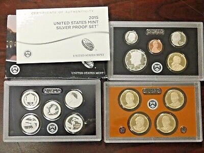2015 U.S. Mint Silver Proof Set! In Box with COA!