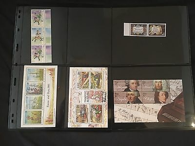 6 x Miniature Sheets of Irish Stamps (Mint Condition)