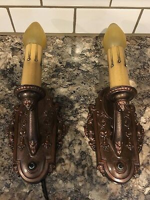 Pair Restored Antique Riddle Co. Wall Sconces Newly Wired Wall Lights 21D