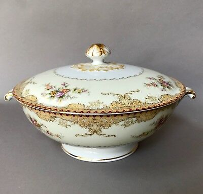 """RARE MEITO CHINA """"DERBY""""  F & B Japan Round Covered Vegetable Bowl"""