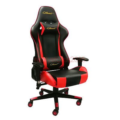 Baesset Gaming Chair High Back PU Lumbar Racing Computer Desk Red Office Seat