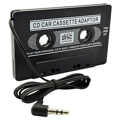 Audio Cassette Tape Adapter Aux Cable Cord 3.5mm Jack fr to MP3 iPod Player @TR