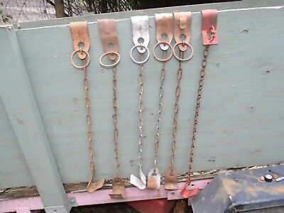 Vintage lot of Cow Hobbles Chain Restraints Dairy Ranch Equipment