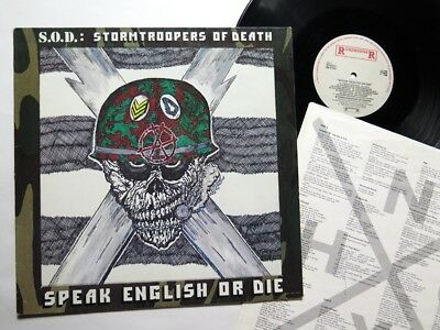 S.O.D. -Speak English or Die LP 1985 , Stormtroopers of Death , slayer carnivore
