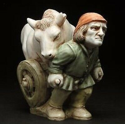'Ogden Bull' Surrey Fables finely detailed miniature figurine (bull / cow / man)