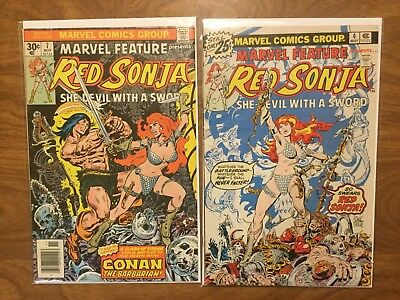 Marvel Feature Presents Red Sonja  4 7 Roy Thomas Frank Thorne Conan 1976