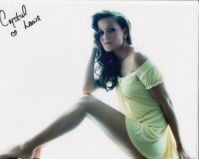 CRYSTAL LOWE signed Autogramm 20x25cm FINAL DESTINATION in Person autograph COA
