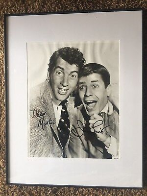 Authentic autographed photo - JERRY LEWIS & DEAN MARTIN both signatures on 8x10