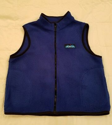 Kavu blue fleece vest kids sz large