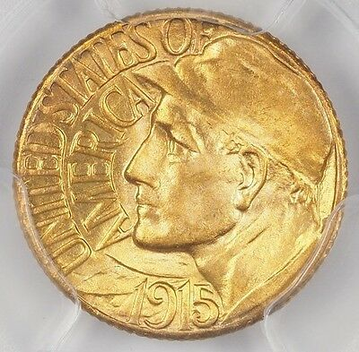 1915-S Pan Pacific $1 Gold Pcgs Ms66+