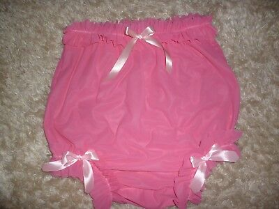 Nylon Pink Panties with Pink bows SISSY MAID AB BABY,TV,CD