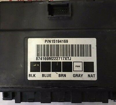 2004 2007 Chevy Or Gmc Van Bcm Body Control Module 15194169