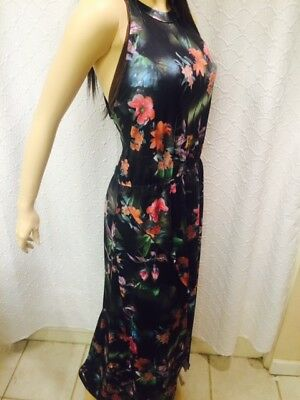 Venus floral maxi dress - NWT - high/low front - size S, M, L & XL - sleeveless