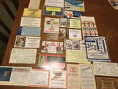 Lot Of Vintage Advertising Food Medications Soaps Alcohol Cleaning