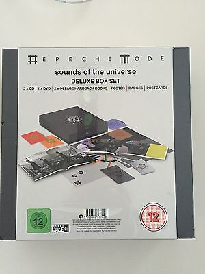 Depeche Mode Sounds Of Universe DELUXE BOX SET CD DVD POSTER Badges Postcards