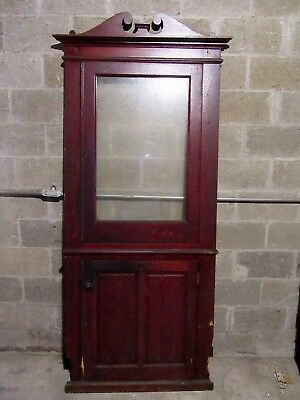 Antique Oak Corner Cabinet Face ~ Cupboard ~ 36 X 89  ~ Architectural Salvage