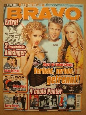BRAVO 50 2004 Christina Aguilera Brad Pitt Destiniy´s Child Hilary Duff Juli