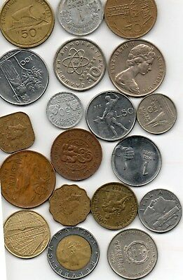 world coins 20+ lbs pounds@ 2200 coins. great variety. different coins lot 2