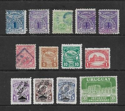 URUGUAY 1927-1960 Parcel Post stamps, used & mint