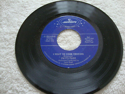 45 Patti Page mockin' bird hill - i went to your wedding Mercury NM-