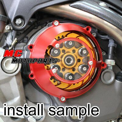 For Ducati CNC Dry Clutch Cover Red Supersport 900 750 1000 SS CC31