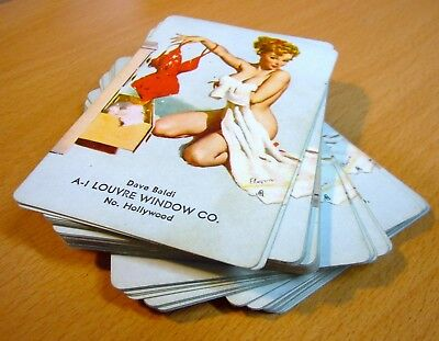 VINTAGE COMPLETE PIN UP PLAYING CARDS DECK sexy risqué Bathing Louvre Window
