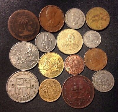 Old Africa Coin Lot - 1896-Present - 15 Great Coins - Lot #N17