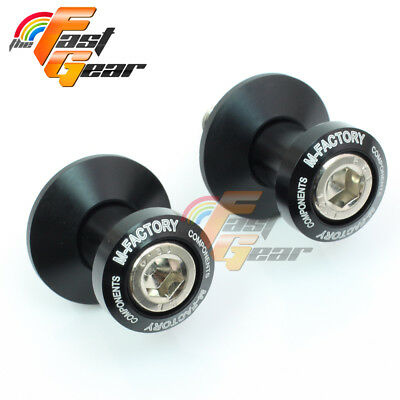 CNC Billet Black Racing Swingarm Spools Fit Kawasaki ZX-6R 636 2013-2015