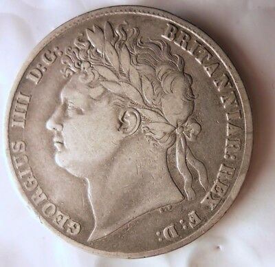 1823 GREAT BRITAIN 1/2 CROWN - Strong- Massive Value Rare Silver Coin - Lot #N17