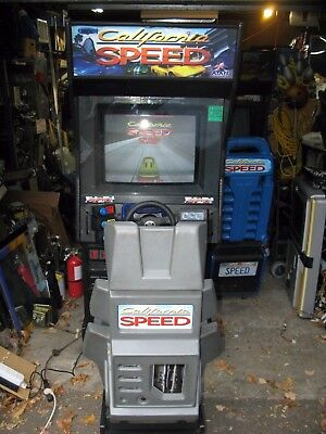 California Speed Atari Arcade  driving Game cool dash and seat all refurbished