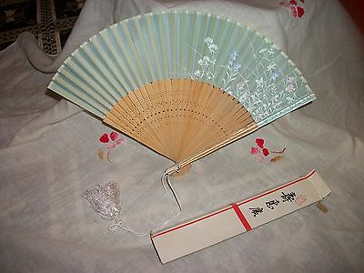 Japanese Hand Fan with Box Beautiful