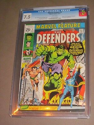 MARVEL FEATURE #1 ('71) CGC 7.5 VF- 1st DEFENDERS story