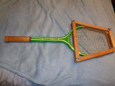 Rare Vintage Head Heavy Spalding  Impact- 240 Wood Rosie Casals Tennis Racket