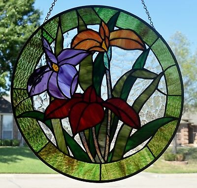 """Stained Glass Window Panel """"A Spring Day"""""""