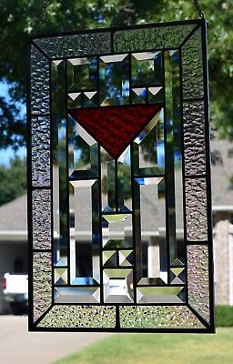 Stained Glass Window Panel with Bevels