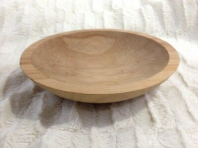 """Holland Bowl Mill Michigan Wooden DOUGH BOWL Stamped Raw Unfinished Wood 9"""""""