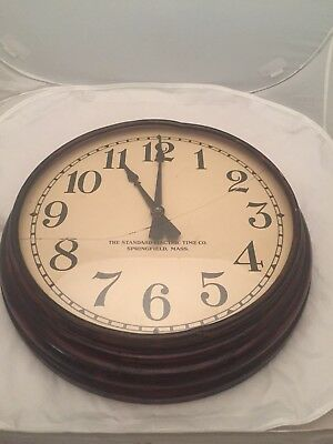 ANTIQUE STANDARD ELECTRIC TIME CO. WALL CLOCK Parts Only