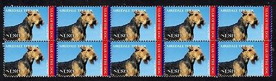 Airedale Terrier Year Of Dog Mint Strip Of 10 Stamps 4