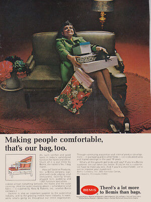 1969 Bemis: Making People More Comfortable Thats Our Bag Too Vintage Print Ad